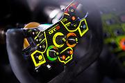 September 30, 2016: IMSA Petit Le Mans, #27 Dream Racing, steering wheel, Lamborghini Huracán GT3