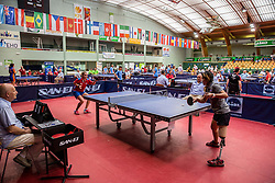 Kanlaya KRIABKLANG of Thailand vs Elena LITVINENKO of Russia in action during Team events at Day 4 of 15th Slovenia Open - Thermana Lasko 2018 Table Tennis for the Disabled, on May 12, 2018, in Dvorana Tri Lilije, Lasko, Slovenia. Photo by Vid Ponikvar / Sportida