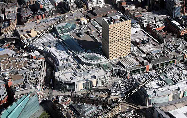 aerial photograph of  Manchester Arndale Centre  Manchester England UK