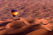 A Balloon Adventures Dubai trip over the desert near Fossil Rock.