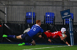 Iwan Hughes of Bristol United goes over for his second try - Mandatory by-line: Ken Sutton/JMP - 15/12/2017 - RUGBY - Donnybrook Stadium - Dublin,  - Leinster 'A' v Bristol United -