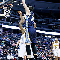 01 February 2016: Memphis Grizzlies center Marc Gasol (33) goes for the baby hook during the Memphis Grizzlies 119-99 victory over the Denver Nuggets, at the Pepsi Center, Denver, Colorado, USA.