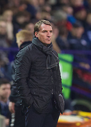 BOLTON, ENGLAND - Wednesday, February 4, 2015: Liverpool's manager Brendan Rodgers during the FA Cup 4th Round Replay match against Bolton Wanderers at the Reebok Stadium. (Pic by David Rawcliffe/Propaganda)
