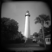 St. Simons Island Light House - Georgia - Holga 120/Ilford Film