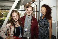 Alexandra Burton, Josh Noon and Ashleigh Ludwig, The BRIT School Industry Day, Croydon, London..Thursday, Sept.22, 2011 (John Marshall JME)