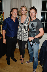 Left to right, JOHN HITCHCOX, SOFIA WELLESLEY and JAMES BLUNT at an Evening with Notting Hill Guitars held at 167 Westbourne Grove, London W11 on 4th September 2013.