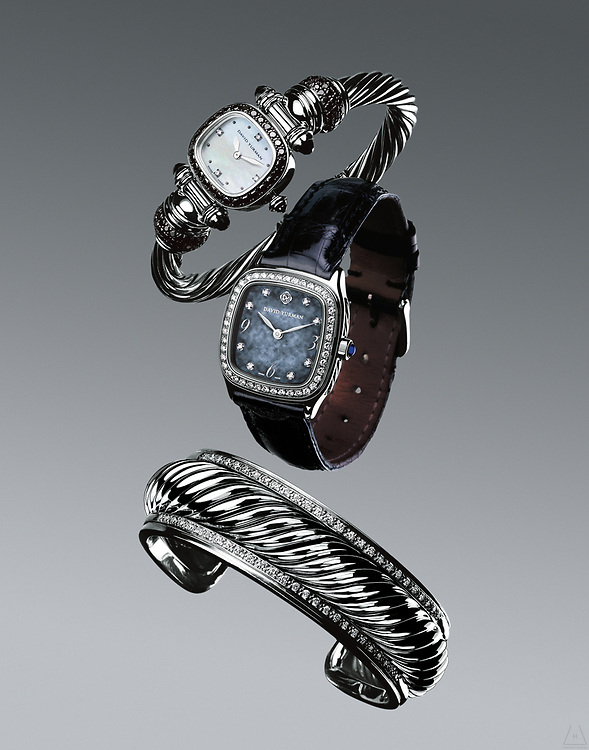 Advertising photograph of Jewelry and timepieces by Timothy Hogan in Los Angeles, New York and London