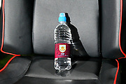 Burnley Football Club branded water in the dugout before the Premier League match between Bournemouth and Burnley at the Vitality Stadium, Bournemouth, England on 29 November 2017. Photo by Graham Hunt.