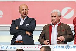 09.05.2015, Allianz Arena, Muenchen, GER, 1. FBL, FC Bayern Muenchen vs FC Augsburg, 32. Runde, im Bild l-r: Praesident Klaus Hofmann (FC Augsburg) und Manager Finanzen Peter Bircks (FC Augsburg) // during the German Bundesliga 32th round match between FC Bayern Munich and FC Augsburg at the Allianz Arena in Muenchen, Germany on 2015/05/09. EXPA Pictures &copy; 2015, PhotoCredit: EXPA/ Eibner-Pressefoto/ Kolbert<br /> <br /> *****ATTENTION - OUT of GER*****