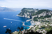 Capri, Italy, view of sea and cliffs