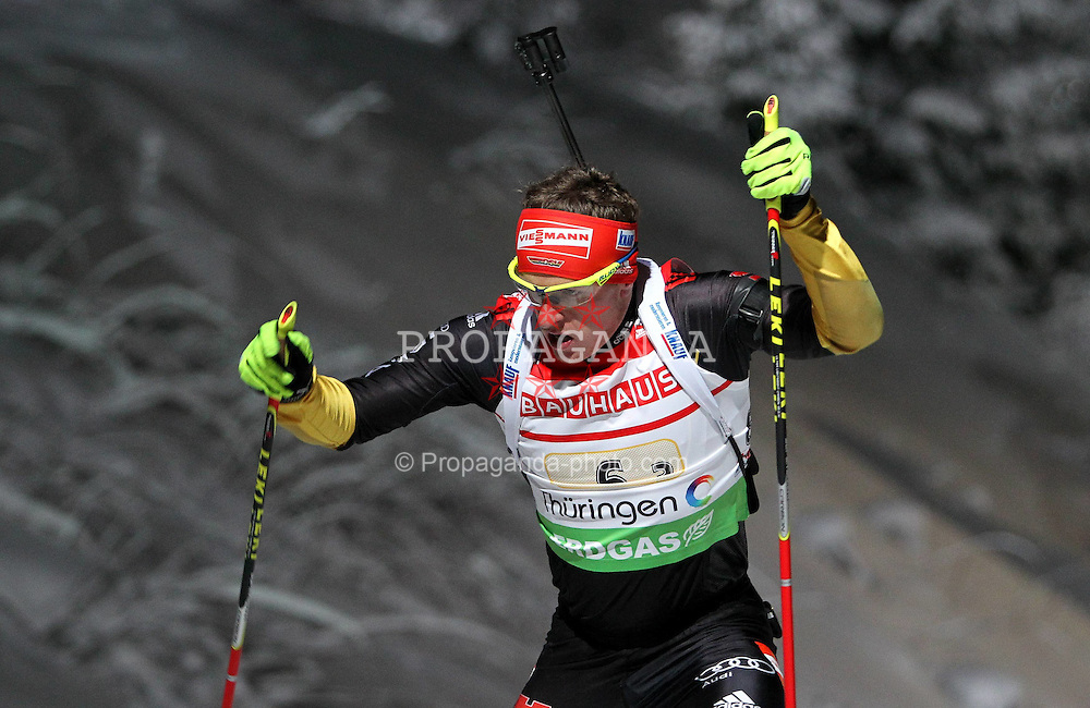 05.01.2012, DKB-Ski-ARENA, Oberhof, GER, E.ON IBU Weltcup Biathlon 2012, Staffel Herren, im Bild Florian Graf (GER) // during relay Mens of E.ON IBU World Cup Biathlon, Thüringen, Germany on 2012/01/05. EXPA Pictures © 2012, PhotoCredit: EXPA/ nph/ Hessland..***** ATTENTION - OUT OF GER, CRO *****