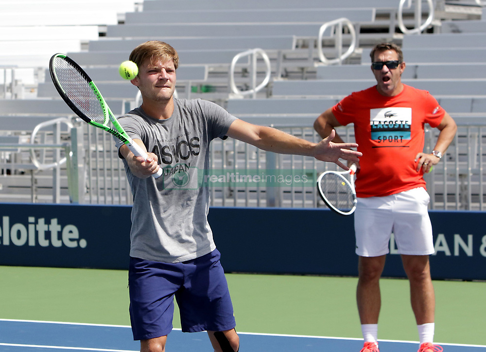 August 23, 2017 - New York, USA - Belgian player David Goffin pictured during her practice session at the US OPEN 2017 (Credit Image: © Panoramic via ZUMA Press)