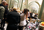 Models prepare backstage at Alice + Olivia during the Mercedes-Benz Fall/Winter 2015 shows at the Prince George Ballroom in New York City, New York on February 16, 2015.