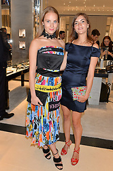 Left to right, sisters LADY LOVAT and LANA PALUMBO at a cocktail party to mark the opening of the House of Dior, the United Kingdom's largest and premier Dior boutique at 160-162 New Bond street, London on 8th June 2016.