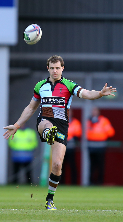 Picture by Michael Whitefoot/Focus Images Ltd 07969 898192<br /> 19/01/2014<br /> Nick Evans of Harlequins during the Heineken Cup match at Parc y Scarlets, Llanelli.