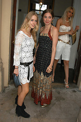 Left to right, Left to right, MARY CHARTERIS and ANOUSKA GERHAUSER daughter of Tamara Beckwith at the Tatler Summer Party in association with Moschino at Home House, 20 Portman Square, London W1 on 29th June 2005.<br />