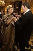 the hon. Katie Green and her escort, charlie Sichel. Crillon Debutantes Ball 2002. Paris. 7 December 2002. © Copyright Photograph by Dafydd Jones 66 Stockwell Park Rd. London SW9 0DA Tel 020 7733 0108 www.dafjones.com