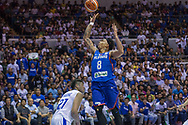 November 27, 2017 - Cubao, Quezon City, Philippines - Calvin Abueva hoops a flooter against Jhen Huang.Gilas Pilipinas defended their home against Chinese Taipei. Game ended at 90 - 83. (Credit Image: © Noel Jose Tonido/Pacific Press via ZUMA Wire)