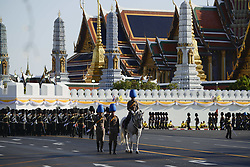 April 28, 2019 - Bangkok, Thailand - Thai royal guards seen during a rehearsal of the land procession for the King's coronation ceremony in Bangkok, Thailand, 28 April 2019. (Credit Image: © Anusak Laowilas/NurPhoto via ZUMA Press)
