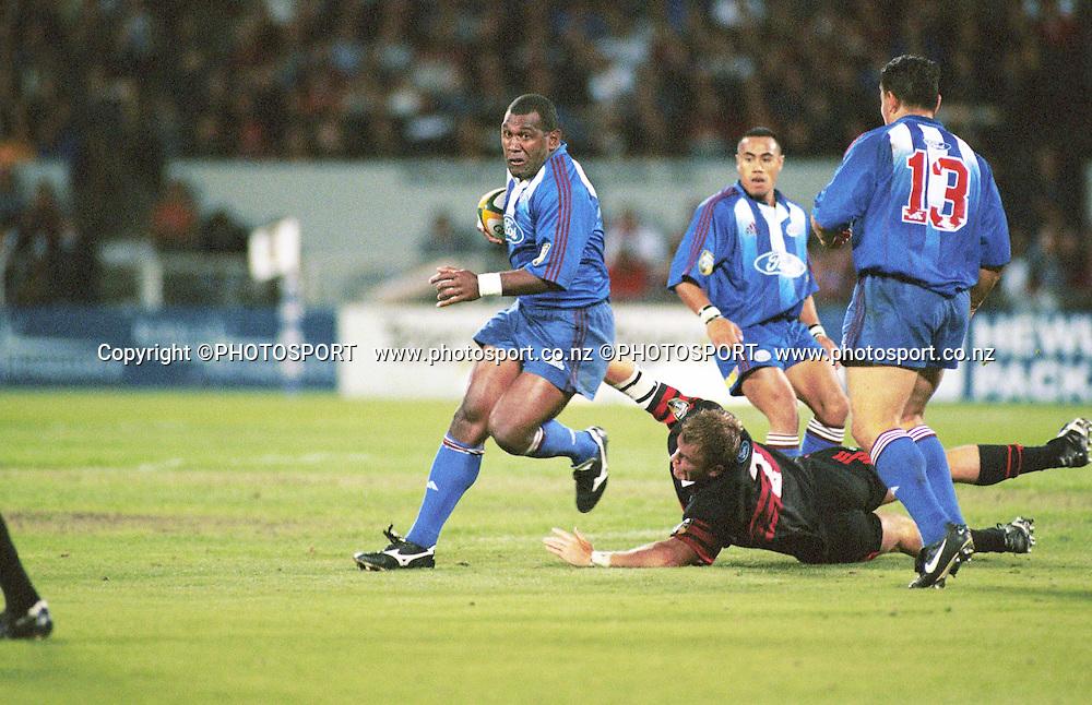 Joeli Vidiri. Super 12, 2000. Auckland Blues v Canterbury Crusaders.  Photo: PHOTOSPORT