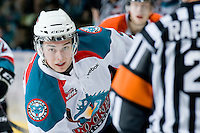 KELOWNA, CANADA, JANUARY 25: Jesse Lees #2 of the Kelowna Rockets skates on the ice as the Kamloops Blazers visit the Kelowna Rockets on January 25, 2012 at Prospera Place in Kelowna, British Columbia, Canada (Photo by Marissa Baecker/Getty Images) *** Local Caption ***