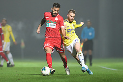 Nemanja Jakšić of Aluminij and Rudi Pozeg Vancas of Maribor during football match between NK Aluminij and NK Maribor in 18th Round of Prva liga Telekom Slovenije 2019/20, on November 24, 2019 in Sportni park Aluminij, Kidricevo Slovenia. Photo by Milos Vujinovic / Sportida