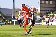 Notts County forward Jonathan Stead (30) battles with Luton Town defender Alan Sheehan (44) during the EFL Sky Bet League 2 match between Notts County and Luton Town at Meadow Lane, Nottingham, England on 5 May 2018. Picture by Jon Hobley.