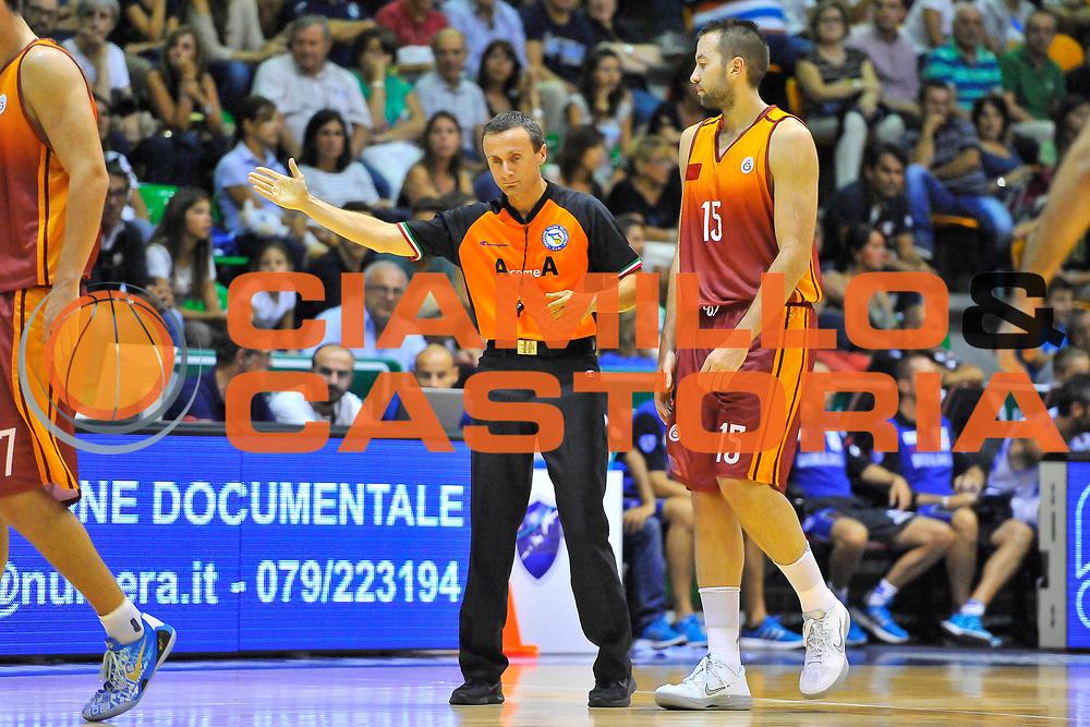 DESCRIZIONE : Torneo Citt&agrave; di Sassari &quot;Mim&igrave; Anselmi&quot; Dinamo Banco di Sardegna Sassari - Galatasaray<br /> GIOCATORE : Vicini<br /> CATEGORIA : Arbitro Referee<br /> SQUADRA : AIAP<br /> EVENTO :  Torneo Citt&agrave; di Sassari &quot;Mim&igrave; Anselmi&quot; <br /> GARA : Dinamo Banco di Sardegna Sassari - Galatasaray<br /> DATA : 14/09/2014<br /> SPORT : Pallacanestro <br /> AUTORE : Agenzia Ciamillo-Castoria / Luigi Canu<br /> Galleria : Precampionato 2014/2015<br /> Fotonotizia : Torneo Citt&agrave; di Sassari &quot;Mim&igrave; Anselmi&quot; Dinamo Banco di Sardegna Sassari - Galatasaray<br /> Predefinita :