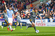 Jamie Vardy of Leicester City (9) in action during the Premier League match between Huddersfield Town and Leicester City at the John Smiths Stadium, Huddersfield, England on 6 April 2019.