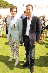 Left to right, RICHARD DENNEN and The MARQUESS OF BRISTOL at the Cartier International Polo at Guards Polo Club, Windsor Great Park, Berkshire on 25th July 2010.