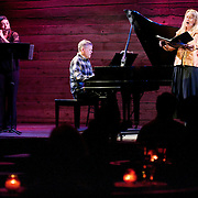 January 14, 2012 - Brooklyn, NY : .Jodie Rottle (flute), Marc Peloquin (piano), and soprano Deborah van Renterghem perform the work of Charles Ives at the Galapagos Art Space in DUMBO, Brooklyn, on Saturday evening..CREDIT: Karsten Moran for The New York Times