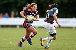 Sydney Gregson of Bristol Ladies runs with the ball - Mandatory by-line: Robbie Stephenson/JMP - 18/09/2016 - RUGBY - Cleve RFC - Bristol, England - Bristol Ladies Rugby v Aylesford Bulls Ladies - RFU Women's Premiership