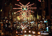 Christmas lights in Bond Street, London, UK