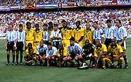 FIFA World Cup - France 1998<br /> 21.6.1998, Parque des Princes, Paris, France.<br /> Group H, Argentina v Jamaica.<br /> Team pose together before the match.