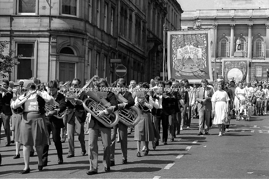 Manvers Branch banner. Yorkshire Area NUM 100th Demonstration and Gala, Barnsley.