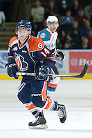 KELOWNA, CANADA, JANUARY 25: Matthew Needham #14 of the Kamloops Blazers skates on the ice as the Kamloops Blazers visit the Kelowna Rockets on January 25, 2012 at Prospera Place in Kelowna, British Columbia, Canada (Photo by Marissa Baecker/Getty Images) *** Local Caption ***