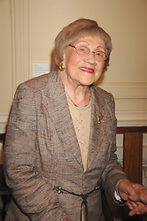 HILDA HOWARD mother of Michael Howard at a party to celebrate the publication of Sandra Howard's book 'Ursula's Stor' held at The British Academy, 10 Carlton House Terace, London on 4th September 2007.<br />
