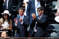 Manuel VALLS / Patrick KANNER  - 07.06.2015 - Jour 15 - Finale   - Roland Garros 2015<br />Photo : Nolwenn Le Gouic / Icon Sport