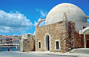 "See Mosque of the Janissaries, on the Old Harbor of Hania (Chania), on the island of Crete, in Greece, Europe. Mosque of the Janissaries was built in 1645, when Hania fell to the Turks, and is the oldest Ottoman building on Crete. GREEK HISTORY: The Greek War of Independence of 1821-1829 reclaimed Ottoman Turk holdings in the Peloponnese, Sterea Ellada, and the Cyclades & Sporades Islands, but intervention by Britain, France, and Russia would set up foreign kings to control Greece on and off for generations. With Ottoman decline in the mid-1800s, the ""Megali Idea (Great Idea)"" of a new Greek Empire became popular for reclaiming former Byzantine Greek lands. Balkan Wars of 1912-1913 expanded Greece to include southern Macedonia, part of Thrace, more of Epiros, North-East Aegean Islands, and union with Crete. After siding with the Allies in World War I, Greece invaded Turkey as far as Ankara. But the young General Mustafa Kemal (later called Ataturk) drove the Greeks out of Anatolia. In a stressful exchange, 1.5 million Christians left Turkey and 400,000 Muslims left Greece. Greece suffered terribly under Nazi occupation in World War II due to starvation, and death camps for half the Jews. Greece's turbulent history culminated in a 1946-1949 Civil War between monarchists and democrats, where more Greeks were killed than in World War II. Despair motivated nearly a million Greeks to seek better life in Australia (Melbourne), Canada, USA (New York & Chicago), and elsewhere. After a coup by Colonels 1967-74 and later socialist rule, Greece shifted politically rightwards by 2001. Greek standard of living rose rapidly; low interest rates expanded car ownership. Greece proudly hosted the lightly attended 2004 Olympic Games in Athens, seen on worldwide TV by 3.9 billion viewers. In 2010-12, debt crisis made Greece agree to Eurozone & IMF loan rescue with harsh austerity measures."