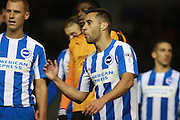 Brighton & Hove Albion centre forward Sam Baldock during the EFL Sky Bet Championship match between Brighton and Hove Albion and Wolverhampton Wanderers at the American Express Community Stadium, Brighton and Hove, England on 18 October 2016. Photo by Bennett Dean.
