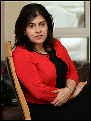 """Image ©Licensed to i-Images Picture Agency. 05/08/2014. London, United Kingdom. Baroness Warsi at her home in London after resigning from the UK Government. The UK Foreign Office minister Baroness Warsi resigned, calling the government\'s policy on Gaza """"morally indefensible"""". Picture by Andrew Parsons / i-Images"""