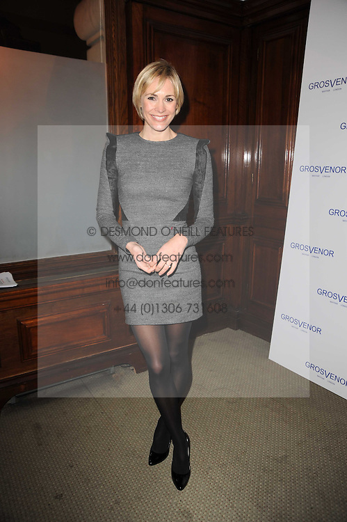 JENNI FALCONER at the launch of Grosvenor Shirts luxury collection to celebrate the 2010 FIFA World Cup in South Africa held at 88 St.James's Street, London SW1 on 8th December 2009.