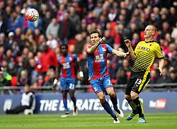 Yohan Cabaye of Crystal Palace and Ben Watson of Watford watch the ball - Mandatory by-line: Robbie Stephenson/JMP - 24/04/2016 - FOOTBALL - Wembley Stadium - London, England - Crystal Palace v Watford - The Emirates FA Cup Semi-Final