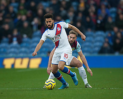 Andros Townsend of Crystal Palace (L) and Charlie Taylor of Burnley in action - Mandatory by-line: Jack Phillips/JMP - 30/11/2019 - FOOTBALL - Turf Moor - Burnley, England - Burnley v Crystal Palace - English Premier League