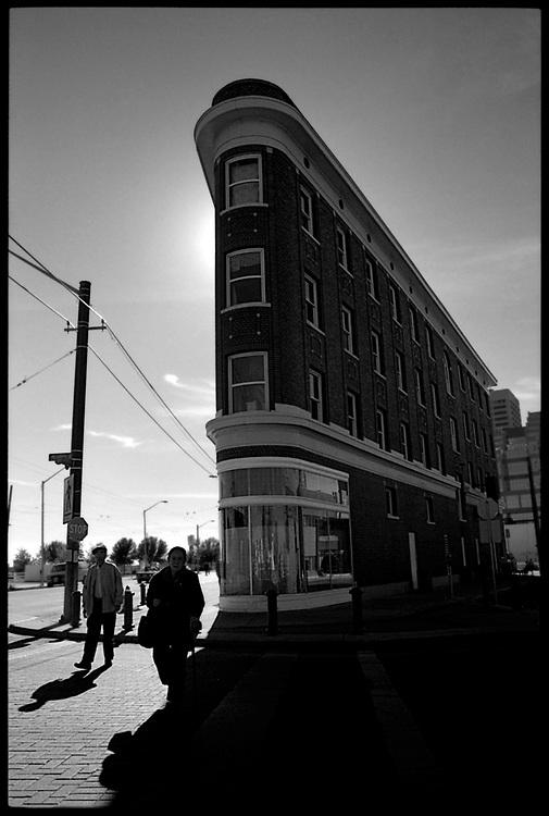 Black and white shots of Historic Edmonton landmarks.