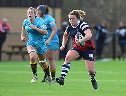 Sarah Bern of Bristol Bears Women - Mandatory by-line: Paul Knight/JMP - 19/01/2019 - RUGBY - Shaftesbury Park - Bristol, England - Bristol Bears Women v Worcester Valkyries - Tyrrells Premier 15s