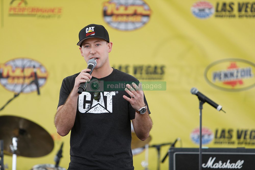 March 1, 2019 - Las Vegas, NV, U.S. - LAS VEGAS, NV - MARCH 01: Daniel Hemric (8) Richard Childress Racing (RCR) Chevrolet Camaro ZL1 on stage with in Neon Garage prior to practice and qualifying for the Monster Energy NASCAR Cup Series Pennzoil 400 on March 1, 2019, at Las Vegas Motor Speedway in Las Vegas, NV. (Photo by Joe Buglewicz/Icon Sportswire) (Credit Image: © Joe Buglewicz/Icon SMI via ZUMA Press)