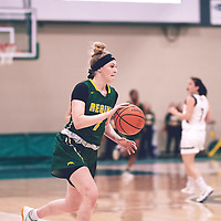 1st year guard, Gabby Kukura (7) of the Regina Cougars during the Women's Basketball Home Game on Sat Nov 03 at Centre for Kinesiology,Health and Sport. Credit: Arthur Ward/Arthur Images