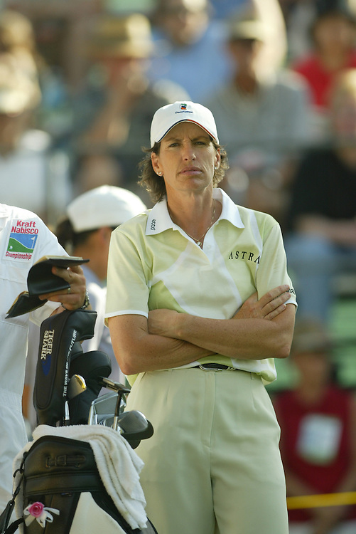 Juli Inkster..2004 Kraft Nabisco Championship.MIssion Hills CC.Rancho Mirage, CA .Second Round.Friday, March 26 2004..photograph by Darren Carroll