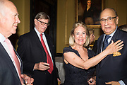 MICHAEL COCKERELL; SIR BILL CASH;  LADY CASH; SIR DESMOND DE SILVA, Launch hosted by Quartet books  of Madam, Where Are Your Mangoes? by Sir Desmond de Silva at The Carlton Club. London. 27 September 2017.